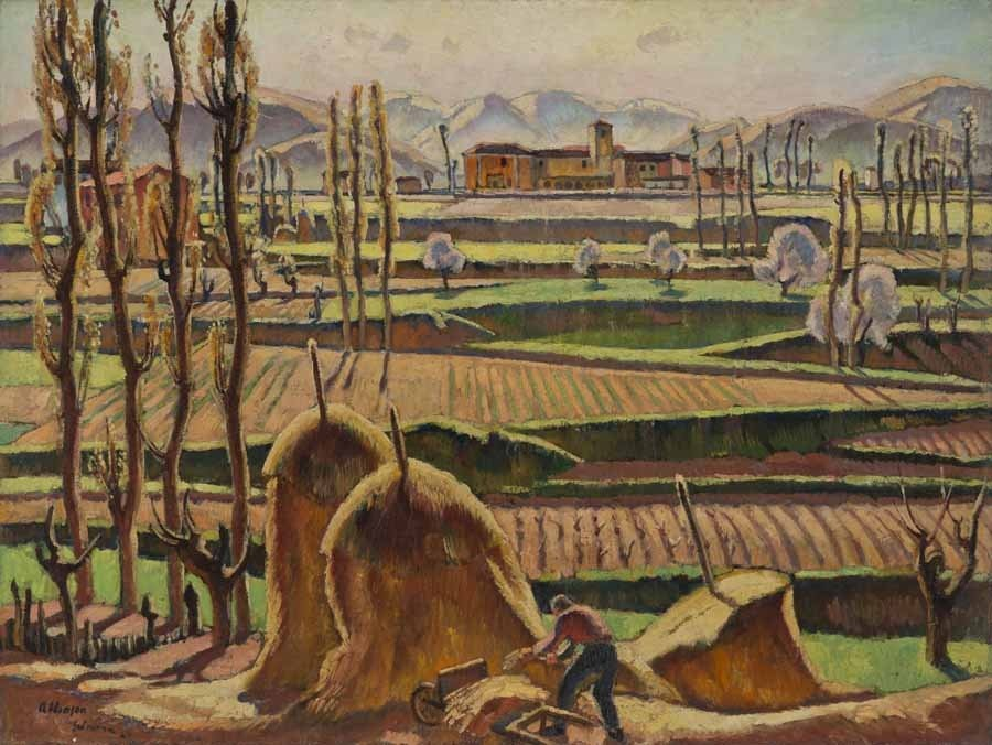 """Adrian Paul Allinson, """"Spring in the Abruzzi,"""" n.d. Oil on canvas. SBMA, Gift of Mary and Will Richeson, Jr."""