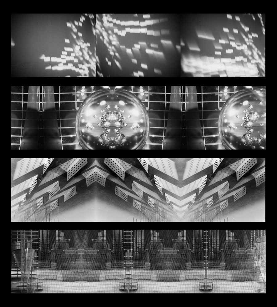 Jan Tichy, Things To Come, 1936-2012. Three-channel digital video projection. Richard Gray Gallery