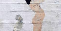 Elizabeth Loveday, textile and mixed media print folk art