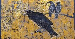 Lydia Bodnar-Balahutrak, Nevermore, 2014, mixed media on canvas, 24 x 38 inches