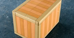Leo Fitzmaurice, Chest, 2016, cardboard box, parcel tape, 31.5x46.5x32cm