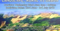 LANDSCAPE; RURAL VS URBAN 23rd June - 3rd July 2016