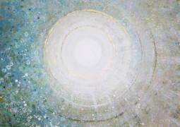 "Image: Emma Lindström Andromeda III Acrylic on Canvas 39.5"" x 39.5"""