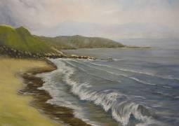 Wendy Gillespie,Northland Beach,Oil on Canvas,18''x 26''