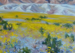 """Death Valley Bloom"", Artist: Trevlyn Williams, Oil on canvas"