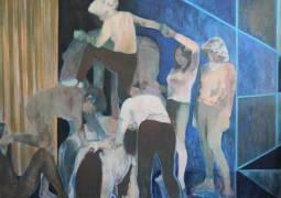 Flora Whiteley, Dramatic Construction, 2015, oil on linen, 150x180cm