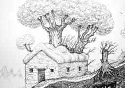 Jock Mooney, Endgame, 2014, ink on paper, 25x25cm