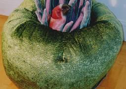 "40"" diameter plush Sea Anemone by Virginia Stearns"