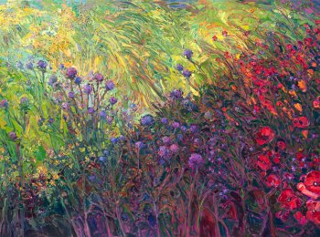Field of Blooms, Oil on Canvas by Erin Hanson