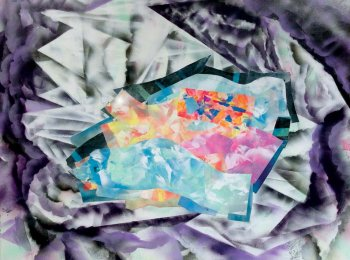 "Diamond Life, 2015 60"" x 48"", acrylic and airbrush on canvas"