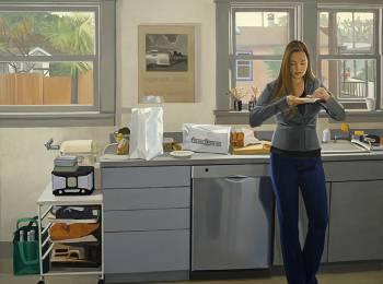 """Christopher Benson, """"ACME Bread,"""" 2014, oil on linen, 42 x 48 in."""