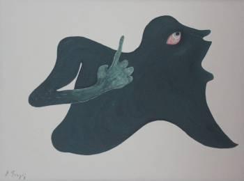 Ardian Tragaj,No Title 2,Acrylic on Canvas,23.5''x 31.5''