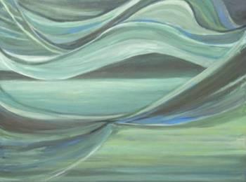 Susana Cecilia Taratuty, Landscape, Acrylic _ Mixed Media on Canvas, 39.5''x 39.5''