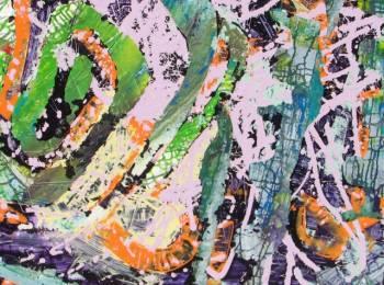 """Melange"",Artitst: Donna Orme, Acrylic, 39.5"" X 35.5"""