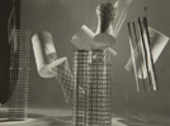 """Set Designs for """"Things to Come"""", 1935. Silver gelatin prints. Estate of László Moholy-Nagy."""