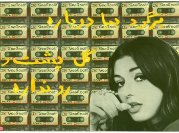 Afsoon, Googoosh 1, from the 'Fairytale Icons' series, 2010, mixed media, 42x59cm