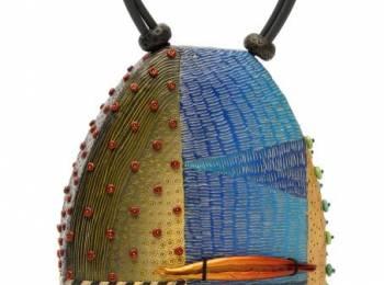 """Izmir"" handbag by Kathleen Dustin, www.kathleendstin.com, Contoocock, N.H"