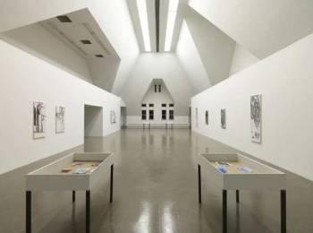 Varda Caivano, The Density of the Actions, installation view at the Renaissance Society, 2015. Photo: Tom Van Eynde