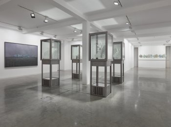 Installation view of Julian Charrière exhibition at Parasol unit