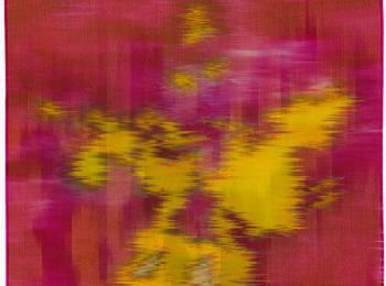 Hildur Ásgeirsdóttir Jónsson, Lichen 2, 2016, silk and dyes,  27 ½ x 28 inches