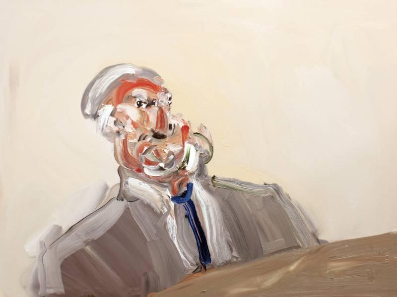 Clerk. Oil on canvas 35x 42
