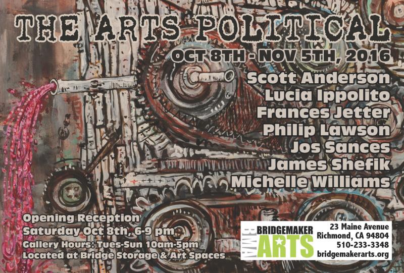 The Arts Political Exhibition at BridgeMakerARTS (art: Scott Anderson  © 2016)