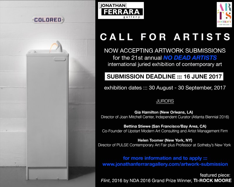 21st Annual No Dead Artists International Juried Exhibition | at